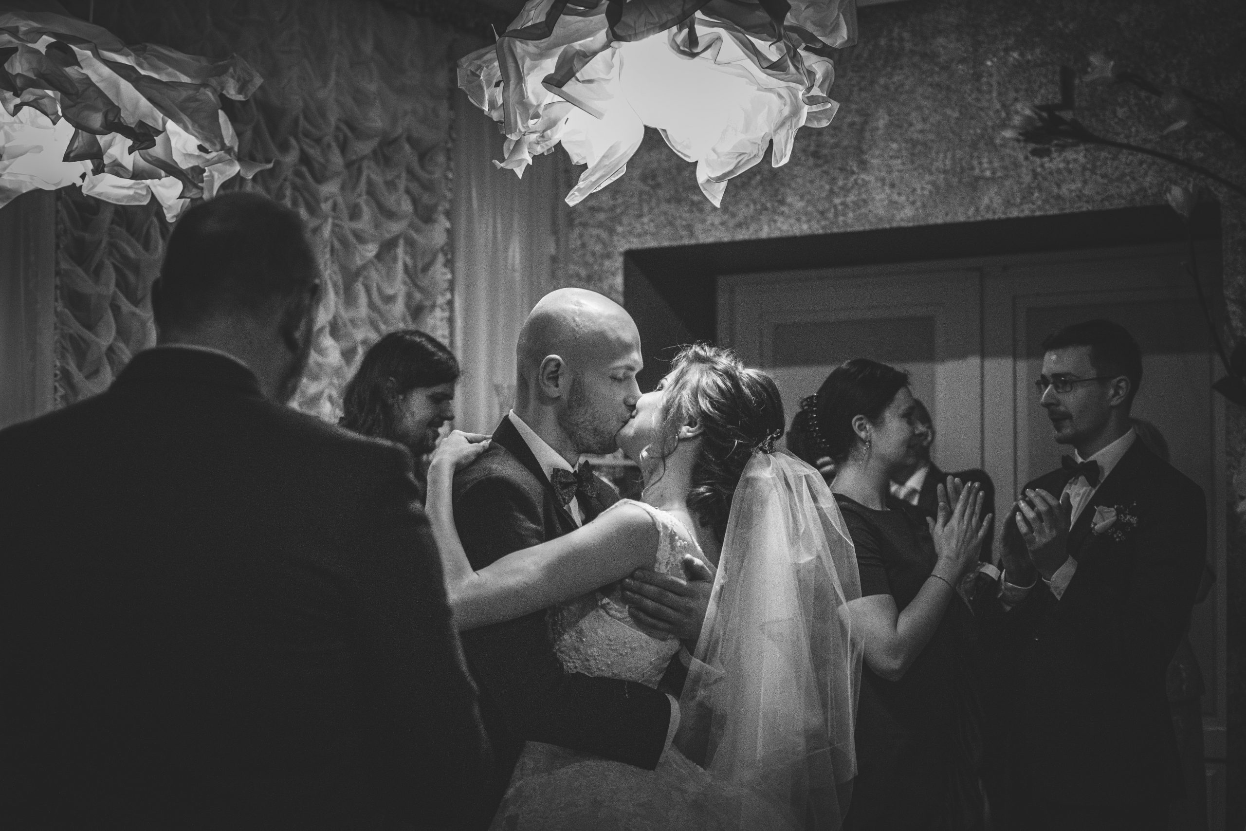 planning a small wedding couple dancing black and white